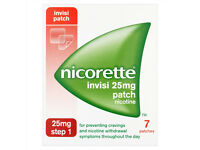 NICORETTE NICOTINE REPLACEMENT PATCHES Invisi Patch 25mg Nicotine,Step 1,