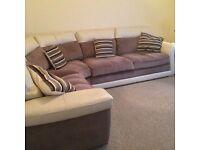 DFS Leather/Fabric Corner suite
