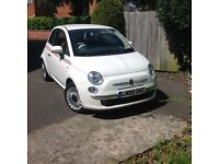White Fiat 500 pop automatic