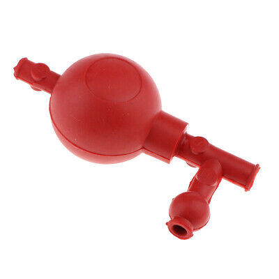 Red 3-way Pipette Suction Ball Pipet Filler Bulb Lab Instruments Equipment