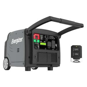 Energizer Quiet 3200-Watt Portable Inverter Generator with Remote & Electric Start (eZV3200P)