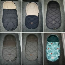 Mamas and Papas Cold Weather footmuff - blue, twilight, chestnut, donna wilson.. CAN POST