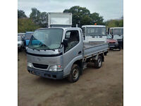 Left hand drive Toyota Dyna D4D 2.5 TD 3.5 Ton single wheel truck.