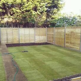 Garden leveling, TURF , Fencing