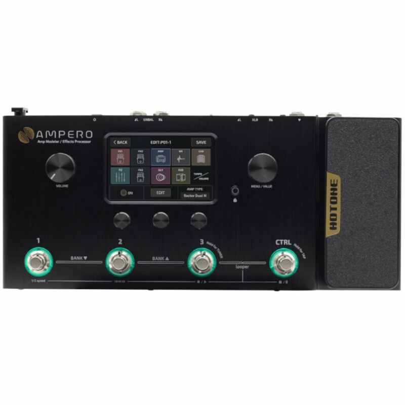 Hotone Ampero Amp Modeler and Effects Processor Pedalboard