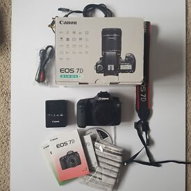 Canon EOS 7D 18.0MP Digital SLR Camera - Black (Body only) VGOOD condition Boxed