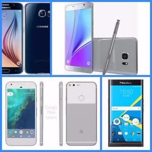 Mint in Box Samsung Galaxy S6 32GB/Note 5 64GB/Google Pixel XL 32GB/BlackBerry Priv, Unlocked with Accessories***