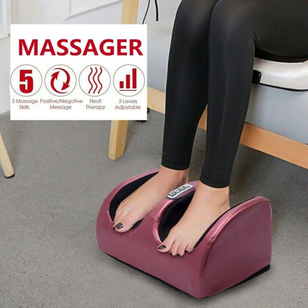 Electric Foot Massager Calf Leg Massage Heated Shiatsu Knead