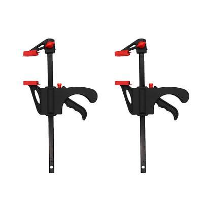 2 Pack One-handed Mini 4-inch Ratchet Bar Clamp Quick-grip For Woodworking