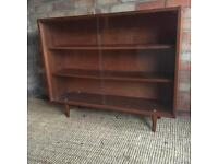 Retro/ Vintage Glass Fronted Book Case/ Display Cabinet on Stilt Legs