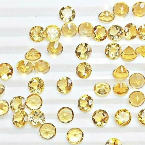 Wholesale Lot 6mm Round Facet Natural Citrine Loose Calibrated Gemstone Brazil