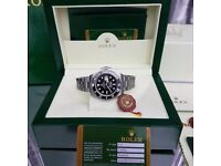 New Mens boxed silver Bracelet black dial black ceramic bezel K ONE Rolex submariner watch
