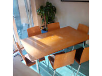 Kitchen table with six chairs