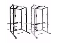 Mirafit Power Rack Squat Cage & Cable - As New!