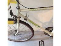 Road bike gents vintage racer chrome chain ring new seat and handlebar bindings