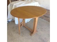 Ercol table and chairs. I will separate if required light wood ercol goldsmith chairs