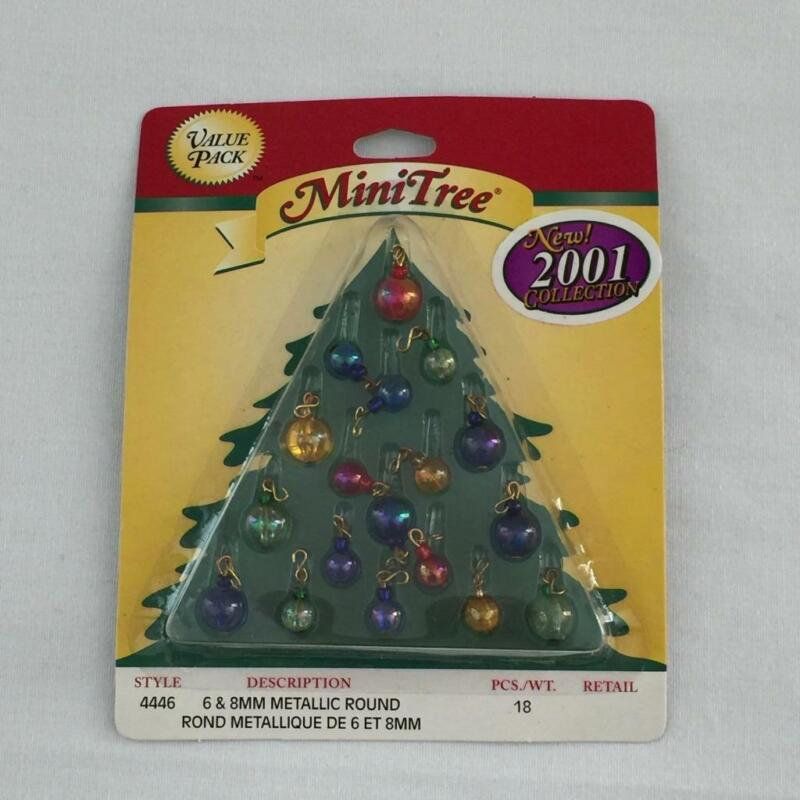 NEW Westrim Mini Tree Metallic Round Bulb Ornaments