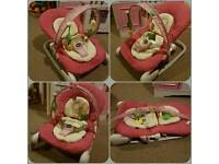 Pink chicco baby bouncer
