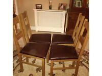 Oak Table & Chairs-Pinner HA5