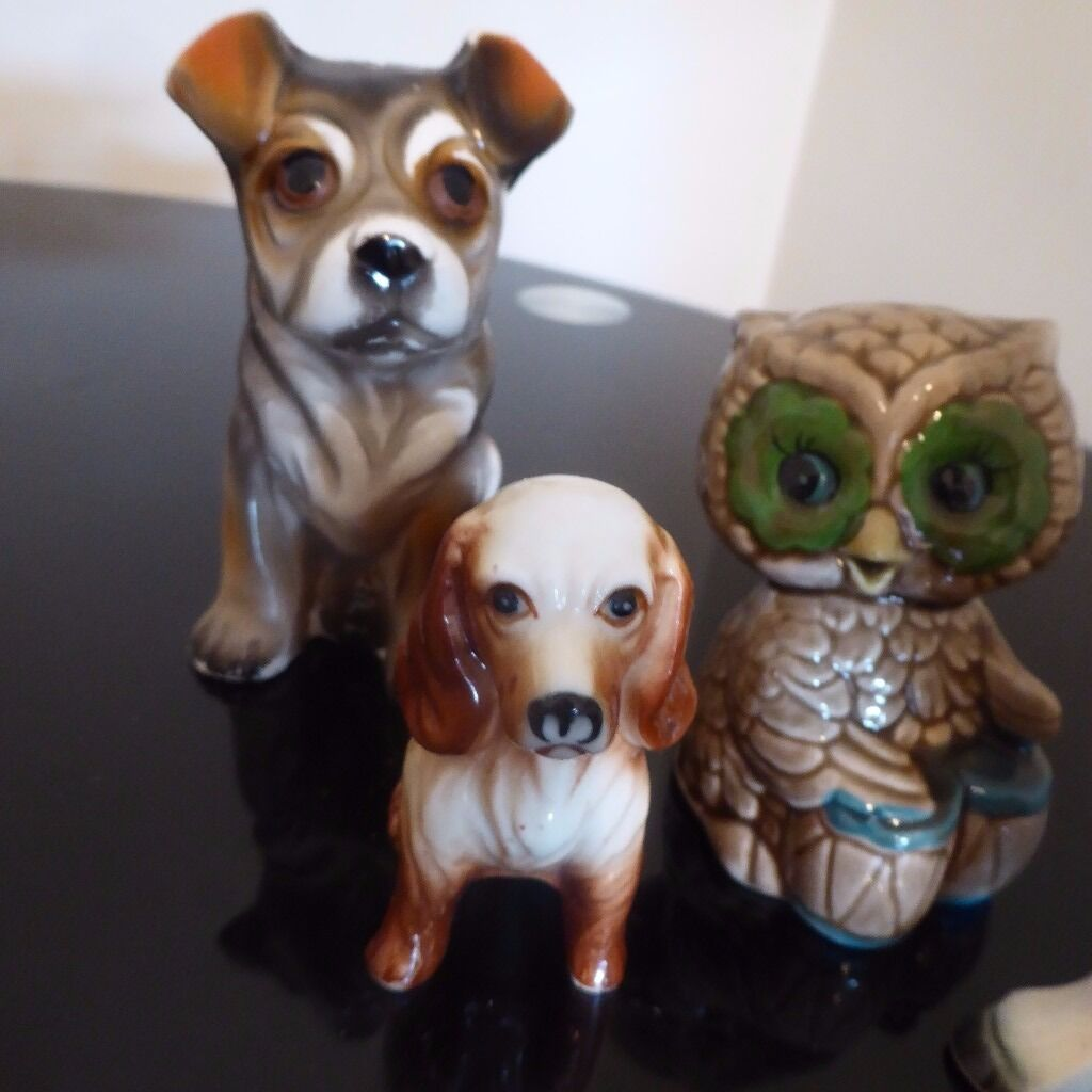 Donkey ornaments - Selection Of Vintage Animal Ornaments Inc Dogs Owl And Donkey In Bracknell Berkshire Gumtree