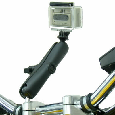 "5"" Great Arm Motorcycle M8 Handlebar Clamp Mount for GoPro Hero Camera"