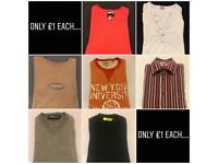 Men's Clothing - £1 Each - Oakley, Topman, River Island, Next...