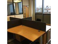 office furniture 1.4 meter wave desks