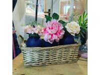 💗MASON FLOWER BASKET