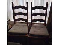 PINE CHAIRS x 2 pairs (4 chairs)