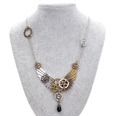 Vintage Steampunk Stil Halskette Kette für Frauen Männer Schmuck 65cm ()