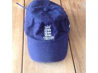England Cricket Cap - 100% Cotton - One Size