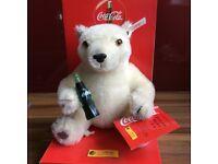 Steiff Limited Edition White Ear Tag Coca Cola Bear