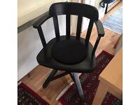 Ikea black Feodor swivel chair