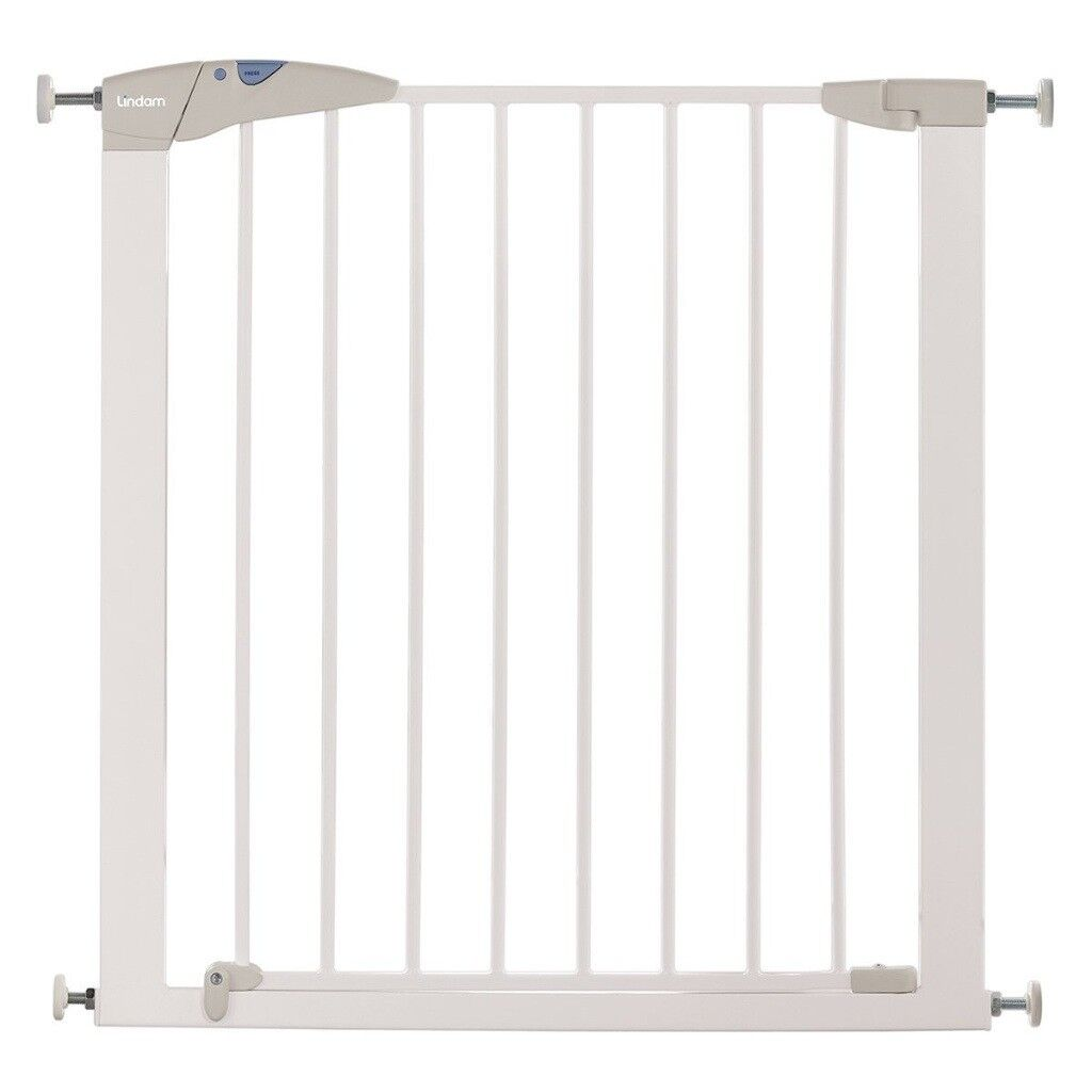 NEW Lindam Sure Shut Axis Pressure Fit Safety Gate 76 - 82 cm WHITE