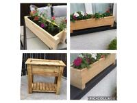 Beautiful wooden flower boxes