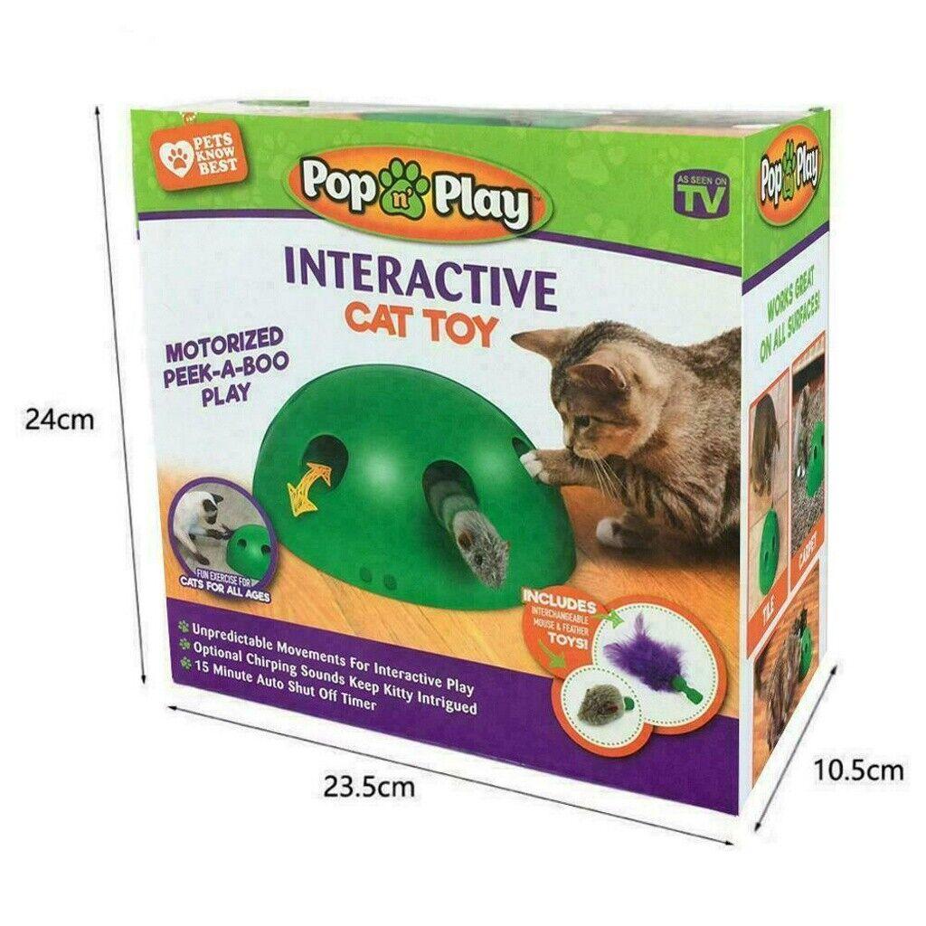 Elektrisch Katzenspielzeug Zum Mäusejagen Maus Interaktives Teaser Spielzeug DHL