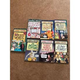 Horrible Histories books x 7