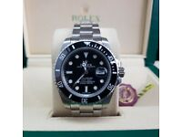 New Silver Black Rolex Submariner Comes Rolex Boxed with Paperwork