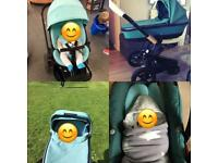 Quinny mood travel system and isofix car seat base