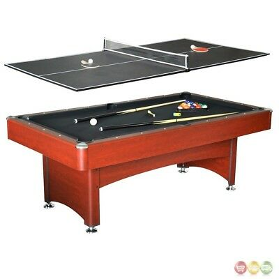 Bristol 7-ft Game Table 2-in-1 Pool & Table Tennis In Black And (2 In 1 Pool Table And Table Tennis)