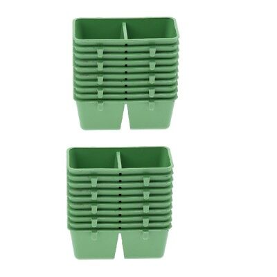 20 Pack Rectangle Bowls Bird Food and Water Cups for Parrot, Parakeet