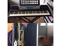 Instruments - Trumpet, Keyboard and Guitar for sale Leicester