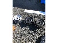 Transit custom steel wheels