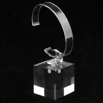 Acrylic Watch Display Stand Showcase Bracelet Display Holder 4cm Transparent