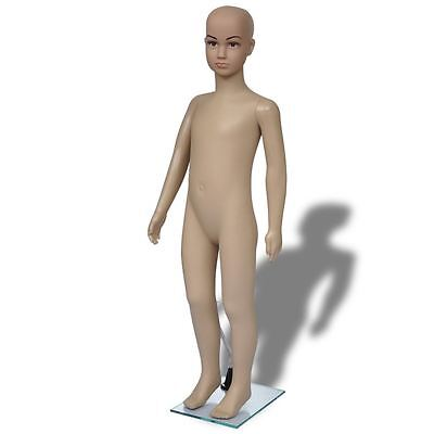 Child Mannequin Full Body Pe Realistic Display Head Turns Dress Form W Base