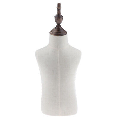 2 Years Old Kids Body Torso Mannequin Store Display Dress Form Linen White