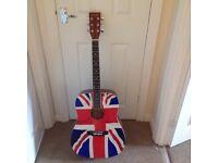 Union Jack Acoustic guitar