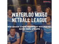 Mixed Netball League - Secure your sport for 2018!