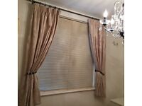 Pair Interiir Designed Short Lined Curtains