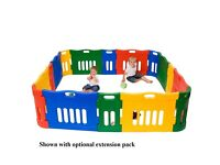 Colourful large playpen now offered for £50